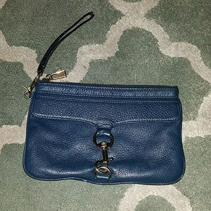 REBECCA MINKOFF Blue Leather Wristlet
